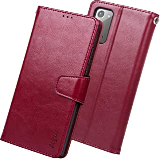 Migeec Case for Samsung Galaxy Note 20 5g Wallet Flip Cover with Credit Card Holder and Pocket, Red