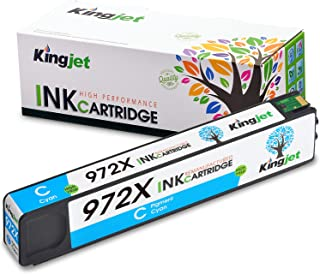 Kingjet Re-Manufactured Ink Cartridge Replacement for 972X Work with PageWide Pro 477dn, 477dw, 577dw, 577z, 552dw, 452dn, 452dw Printers,1 Pack(Cyan)