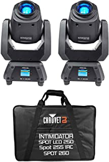 (2) Chauvet Intimidator Spot 260 75w LED Moving Heads+Padded Carry Case
