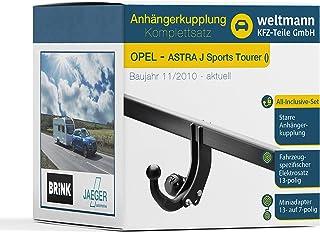 Anhängerkupplung BRINK starr für OPEL Astra J Fliessheck Elektrosatz inkl EBA