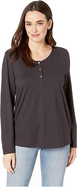 Sleep & Lounge Long Sleeve Henley Shirt