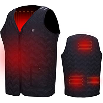 Pesca Bater/ía no incluida chaqueta c/álida para Esqu/í Golf Con cuello t/érmico Moto Senderismo Caza Chaleco calefactable recargable por USB Chaqueta T/érmico Electrico para Hombre y Mujer
