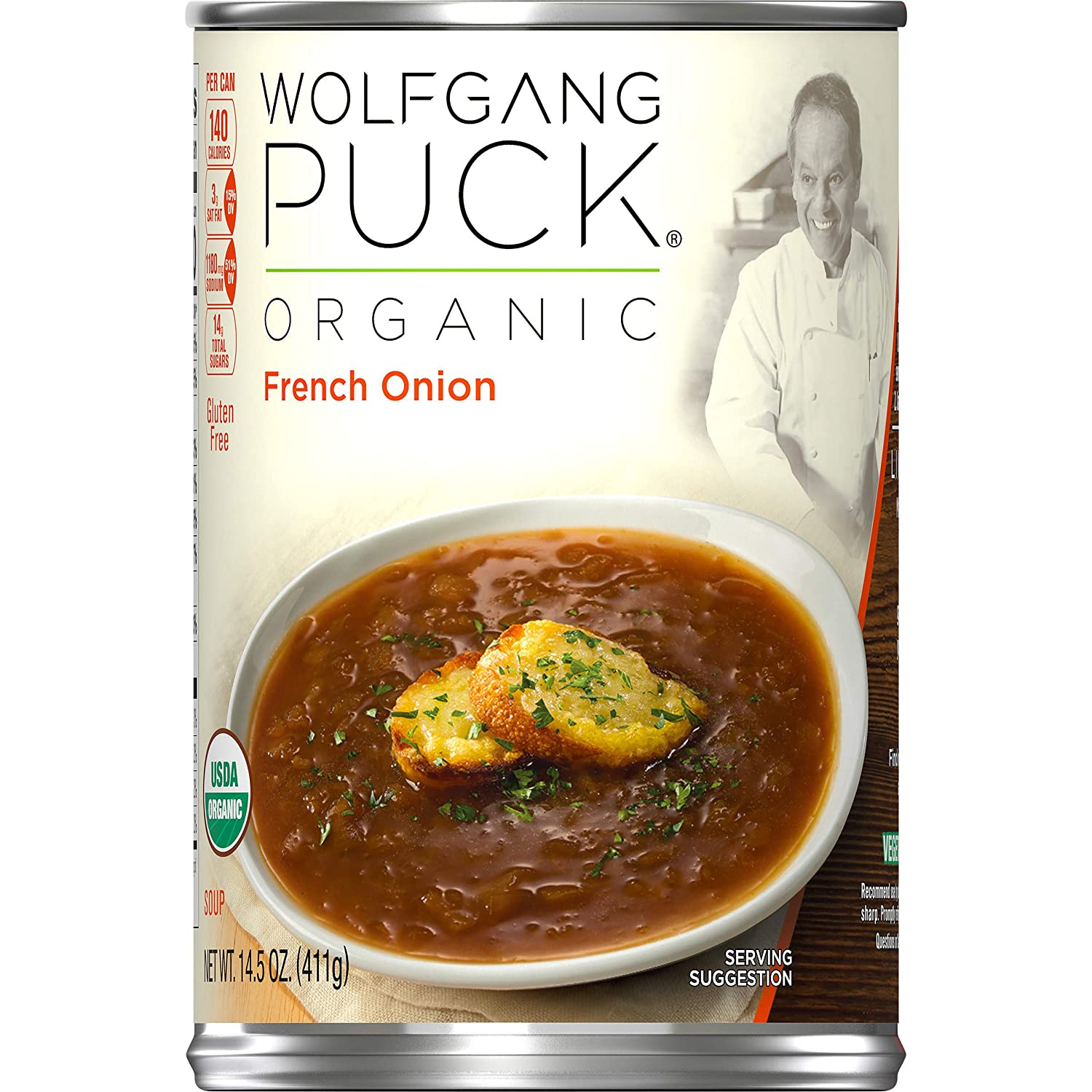 Wolfgang Puck Organic French Onion Oakland Mall Soup Year-end gift of Pack 14.5 oz. 1 Can