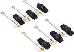 Ampel 24 grondanker set: 6 grondankers om in te schroeven met verstelbare riem