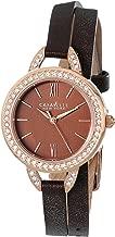 Caravelle New York Women's 44L130 Analog Display Japanese Quartz Brown Watch