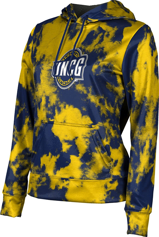 University of North Carolina at Greensboro Girls' Pullover Hoodie, School Spirit Sweatshirt (Grunge)