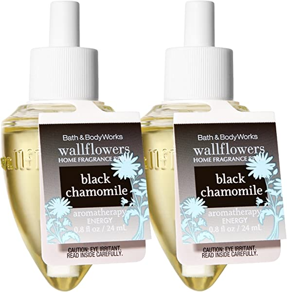 Bath And Body Works Wallflowers Home Fragrance Refill 2 Pack Aromatherapy Black Chamomile Relax