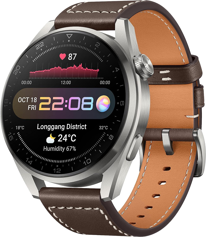 Huawei Reloj 3 Pro Elite - Correa de Cuero Marrón