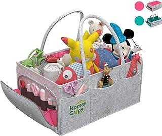 منظم حقائب حفاضات الأطفال - منظم سلة تخزين للأطفال حديثي الولادة المتنقل للآباء الجدد، أفضل استحمام للرضع، حقيبة لوازم الط...
