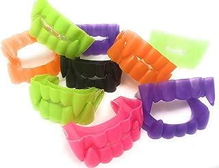144 Bulk Vampire Teeth Halloween Fangs Assortment (Black, Purple, Green, Hot Pink, Orange, and Glow-in-the-Dark)
