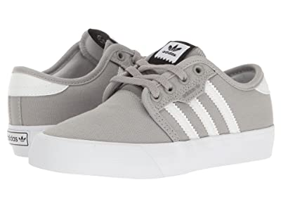 adidas Skateboarding Seeley J (Little Kid/Big Kid) (Ash/White/Black) Skate Shoes