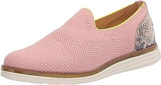 حذاء Cole Haan نسائي أصلي Grand Cloudfeel Meridian Loafer، خياطة وردية ضبابية/جلد مطبوع عليه جلد الثعبان، 8. 5