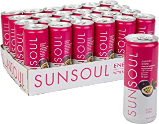SUNSOUL All Natural Healthy Energy Drink 24 Pack - Low Calories & No Refined Sugar & No Artificial Ingredients - Passion F...