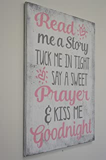 Read Me A Story Tuck Me In Tight Wood Sign