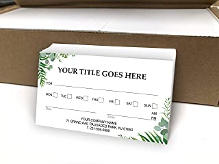 Custom Appointment Reminder Business Cards 500 Full color - Customize (front&back) - Appointment reminder card on Front, Your business card info on backside -Offset Printing, Made in The USA (Green)