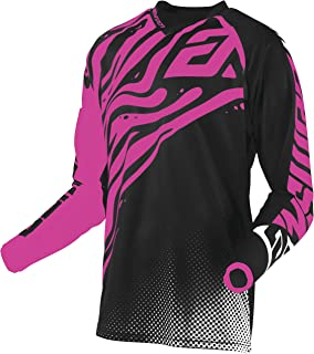 Answer 2019.5 Women's Syncron Jersey - Flow (Large) (Black/FLO Pink)