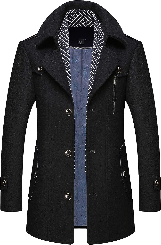 FASHINTY Men's Classical おすすめ特集 Casual 売買 Style W turndown Slim-fit collar