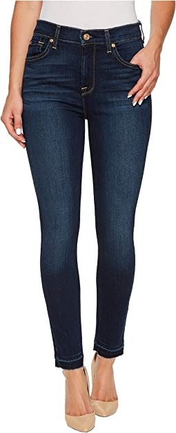7 For All Mankind - High Waist Ankle Skinny w/ Released Hem in Victoria Blue