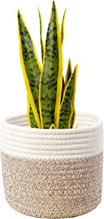 TreeishDécor Basket Woven Planter Basket – Multifunctional Organic Cotton Rope Pot for Indoor Plants, Toy Organizer, DIY C...