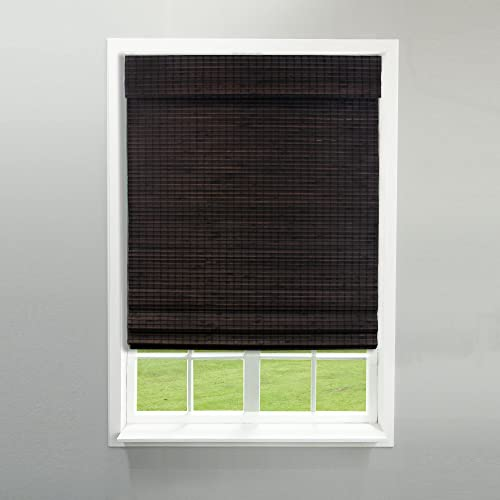 """2021 Radiance outlet sale 2208824E Cordless Roman Shade, 23"""" x 64"""", new arrival Espresso online"""