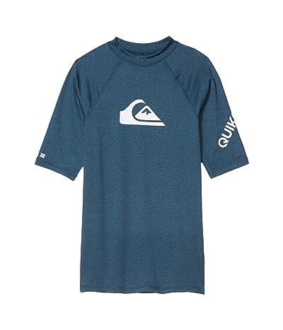 Quiksilver Kids All Time Short Sleeve (Big Kids) (Majolica Blue) Boy