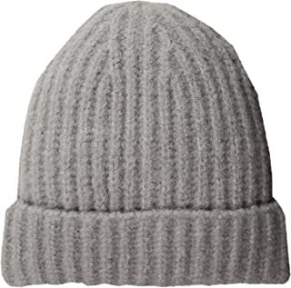 French Connection Womens SHIAI Cashmere Feel Ribbed Beanie Winter Hat