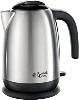 Russell Hobbs 23910 Adventure Brushed Stainless Steel Electric Kettle, Open Handle, 3000 W, 1.7 Litre [Energy Class A]