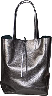 Dazoriginal Damen Ledertasche Shopper 100% Leder Schultertasche Beuteltasche Bag
