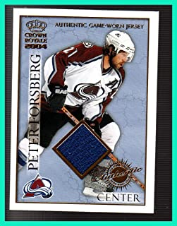 2003-04 Crown Royale GAME USED JERSEY #6 Peter Forsberg COLORADO AVALANCHE SERIAL #399/630