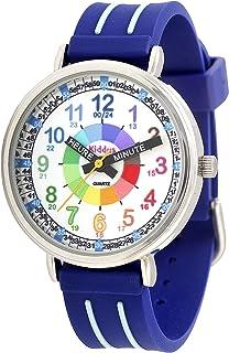 KIDDUS Montre Bracelet Éducative pour Enfants, garçon. Time Teacher Analogique avec Exercices. Mécanisme en Quartz Japonai...