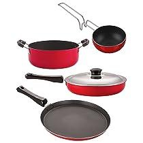 Nirlon Non Stick Kitchenware Cooking Utencil Gift Set of 4 Pieces (FT12_FP13_VG_CS24)