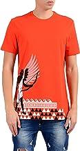 Versace Collection Men's Orange Graphic Short Sleeve Crewneck T-Shirt Size US M IT 50