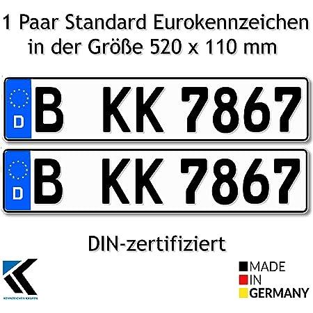 Antmas Din Zertfizierte Euro Kennzeichen Kfz Kennzeichen Für Deutschland 2 Kennzeichen Auto