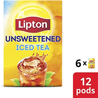 Lipton Iced Black Tea K-Cup for a delicious refreshment Unsweetened 0 Calories 12 Count (Pack of 1)