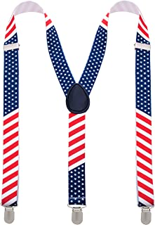 Man of Men - Men's Patriotic American Fashion Suspenders - Many Colors to Choose From
