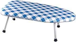 Collapsible Tabletop Ironing Board   Folding Legs and Padded Scorch Resistant Washable Cover