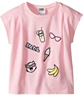 Karl Lagerfeld Kids - Short Sleeve Tee w/ Embroidered Patches (Toddler)