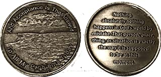 Acceptance is The Answer Beach Sunrise Pewter Color AA Medallion Chip Page 449 417