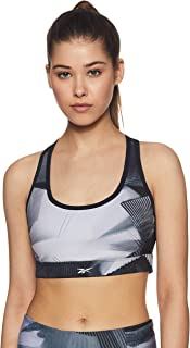 Reebok Women's Running Essentials Racer Sports Bra, Black