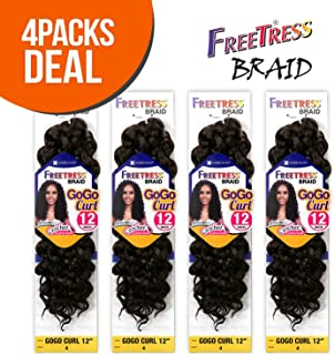 FreeTress Synthetic Hair Crochet Braids GoGo Curl 12