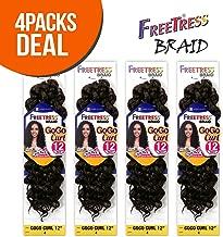 FreeTress Synthetic Hair Crochet Braids GoGo Curl 12