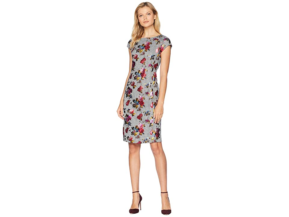 eci Foil Floral Printed Menswear Dress (Multi) Women