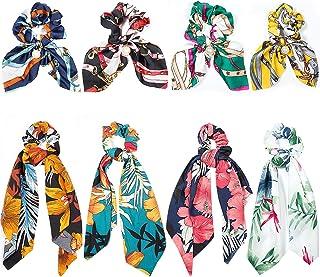 Pañuelos para el Pelo, Comius 8 Pcs Pañuelo para el cabello Scrunchies Bandas Elásticos Del Pelo Multi Patron Bufanda Cuel...
