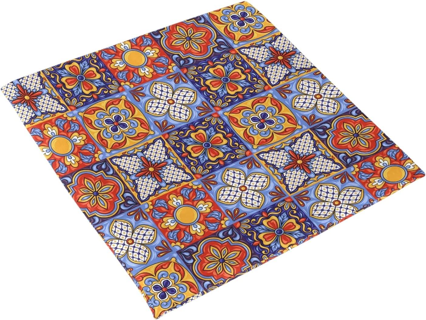 Over item handling Bargain sale ☆ xigua Seat Cushion Mexican Talavera Pads Sof Chair Ceramic Tile