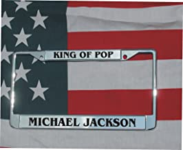 MICHAEL JACKSON LASER ENGRAVED LICENSE PLATE FRAME KING OF POP W/FREE SCREW COVERS