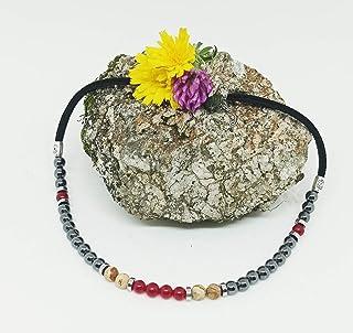 Collar corto de Piedras Naturales, collar corto de mujer, collar Jade Rubí, Jaspe Paisina y Hematita, collar de chica rega...