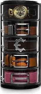 ELYPRO Belt Organizer - Acrylic Organizer & Display for Accessories Like Jewelry, Watch, Cosmetics, Makeup Organizer, Bow Ties, Bracelets, Craft and Toy Organizer, Closet Box. Great Gift Item
