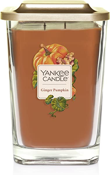 Yankee Candle Company Elevation Collection With Platform Lid Large 2 Wick Ginger Pumpkin