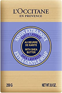 L'Occitane Extra-Gentle Vegetable Based Soap Enriched with Shea Butter - Lavender, 8.8 oz.