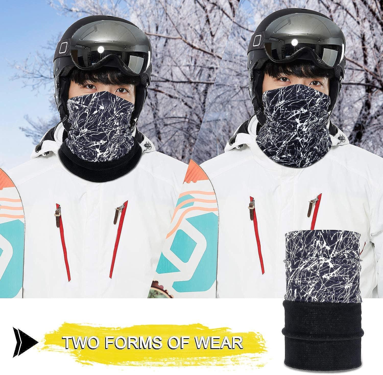 YOSUNPING - Double-Layer Midweight Polar Fleece Neck Warmer Face Mask